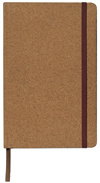 Case bound faux leather journal cork cover