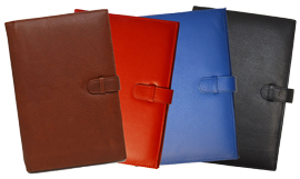 British tan, red, blue, black forever journal covers